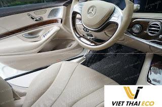 Mẫu thảm lót sàn Mercedes S63 ghế tài