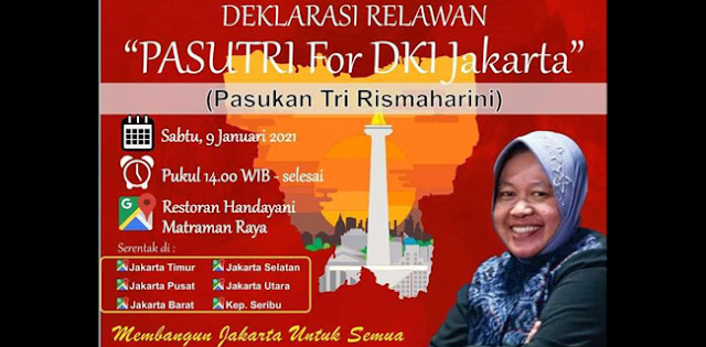 "Relawan ""Pasutri"" Dideklarasikan Untuk Siapkan Mesin Politik Tri Rismaharini Di Pilkada Jakarta"
