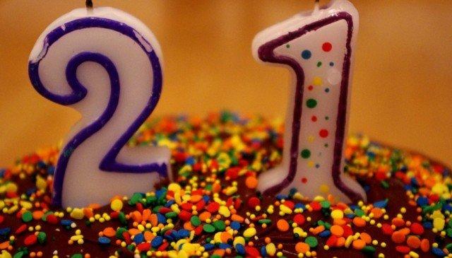 Feliz 21 anos para mim!