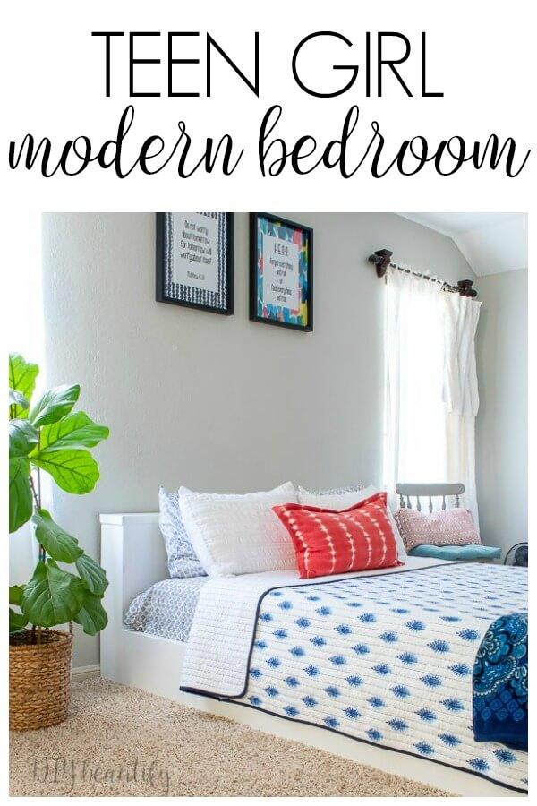 teenage girl modern bedroom with style