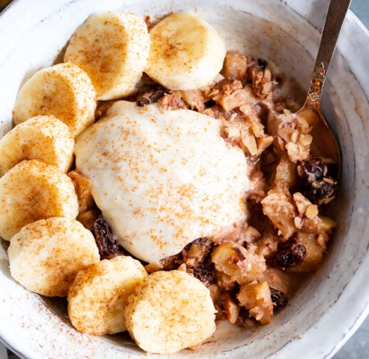 Easy Apple Cinnamon Paleo Hot Cereal {Sugar-Free, Vegan} #healthy #breakfast