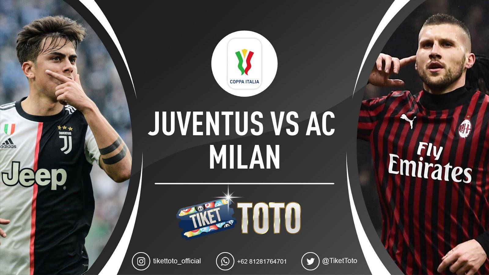 Jadwal Semifinal Leg Kedua Coppa Italia Juventus Vs AC Milan