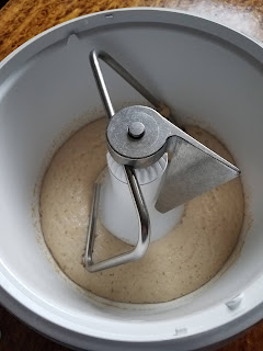 Proof the yeast, I now use the mixing bowl.