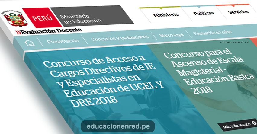 MINEDU: Últimos días para Inscripción de Docentes a Concurso de Ascenso de Escala Magisterial - Cargos Directivos de IE y Especialistas en Educación de UGEL y DRE - www.minedu.gob.pe