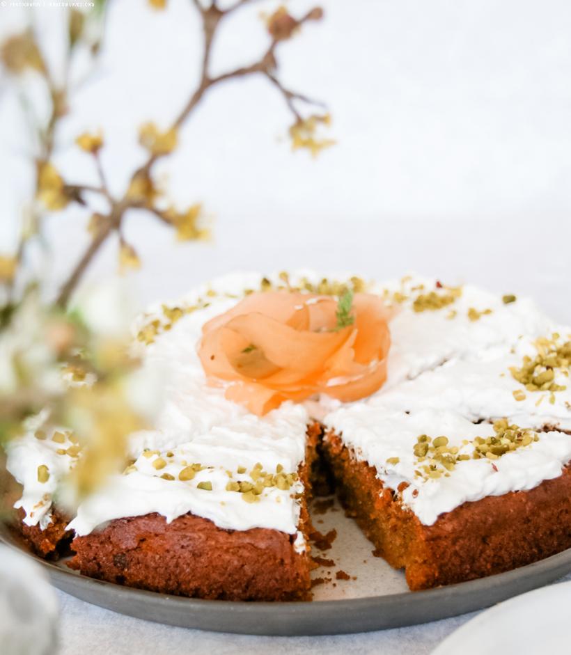 Karottenkuchen / glutenfrei, zuckerfrei und vegan