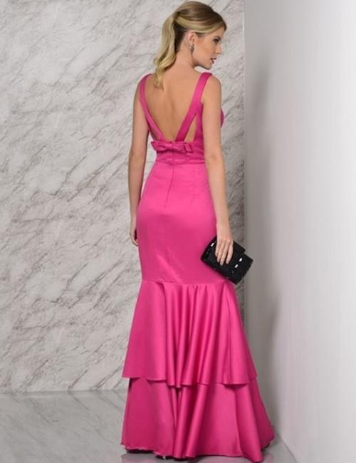 vestido longo pink sem bordado