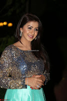 Nikki Galrani in Green Skirt  Top at Marakathamani music launch ~  Exclusive (97).JPG