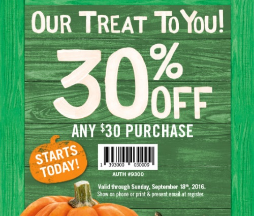 Bath & Body Works 30% Off $30 Purchase Coupon