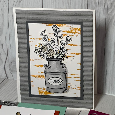 Grey Sample using Country Home Stamp Set