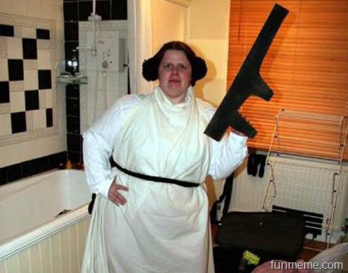 terrible princess leia fan