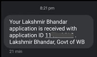 Lakshmi Bhandar Scheme SMS