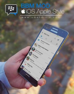 BBM MOD iPhone iOS Style APK