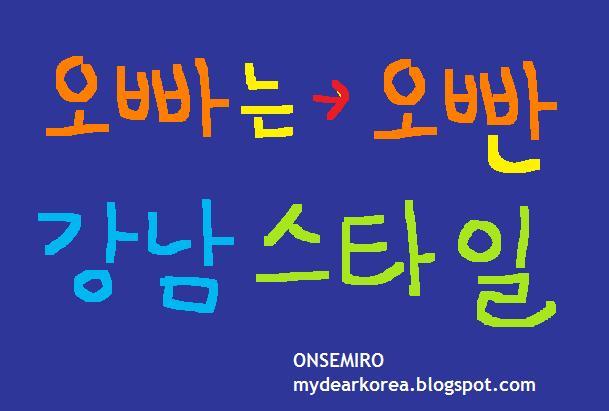 MY DEAR KOREA: KOREAN LANGUAGE: What is Oppan (Oppa) in Gangnam Style?