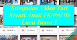 Kumpulan Video Tari Kreasi Anak Tk Paud Lucu Juara 1 File Terbaru