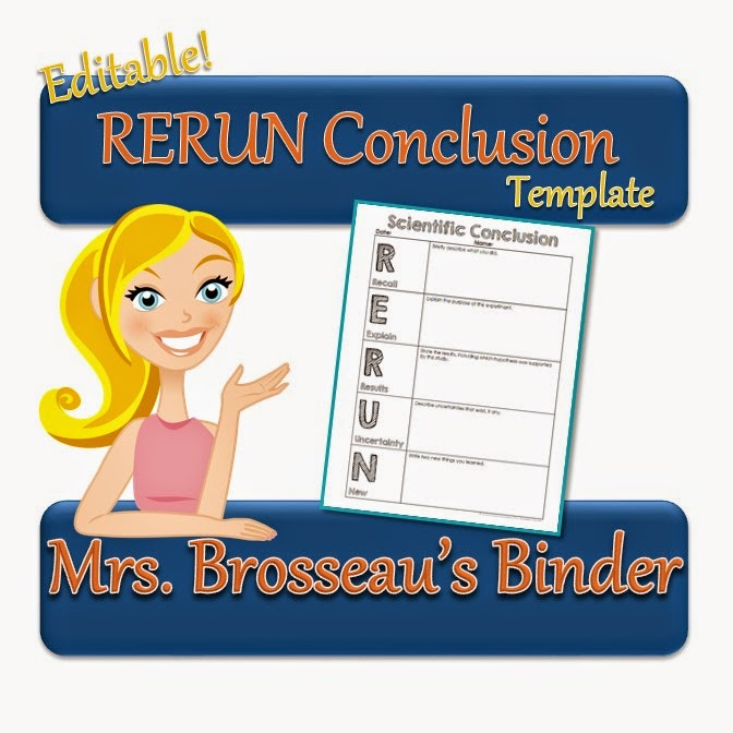 http://www.teacherspayteachers.com/Product/RERUN-Conclusion-Template-FREE-1501091