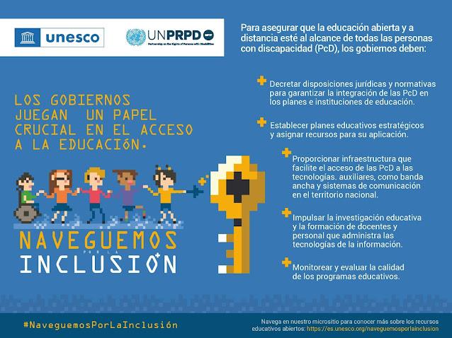 """""""Naveguemos por la Inclusión"""". Campaña para redes sociales para promover el aprendizaje para todos."""