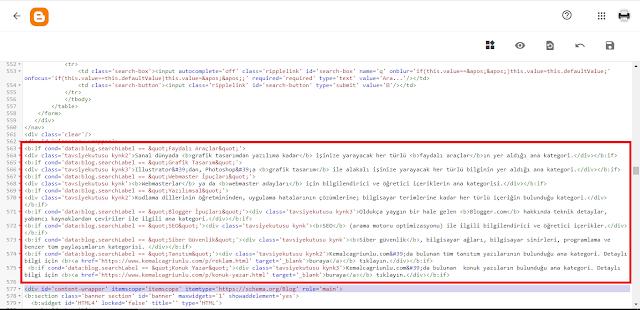 Blogger etiketlere açıklama ekleme