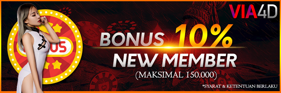 Via4D - Bonus New Member 10% (Max 150.000)