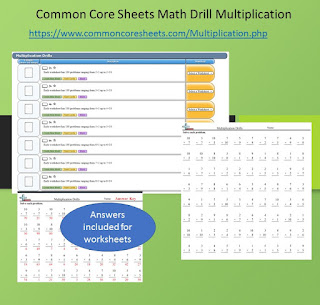 Easy to Use Math Drills Multiplication Worksheets