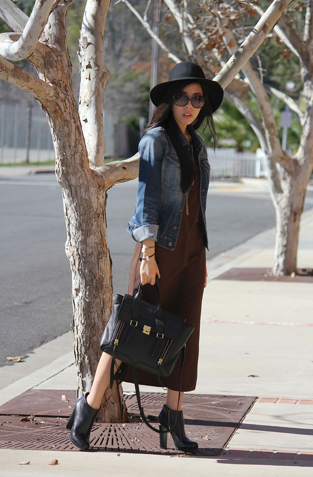 What to wear to the Farmer's Market - Maxi Dress and Jean Jacket - Simple Jean Jacket and Dress Look _ Adrienne Nguyen - Invictus - Pharmacy Student Style Blogger - San Diego