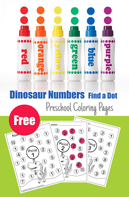 free printable coloring pages for preschoolers dot activity
