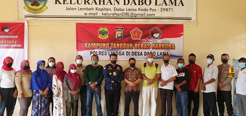Kelurahan Batu Kacang dan kelurahan Dabo Lama Diremikan Menjadi Kampung Tangguh Anti Narkoba