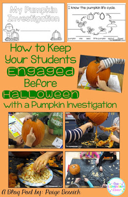 How to keep your students engaged before Halloween with a pumpkin investigation