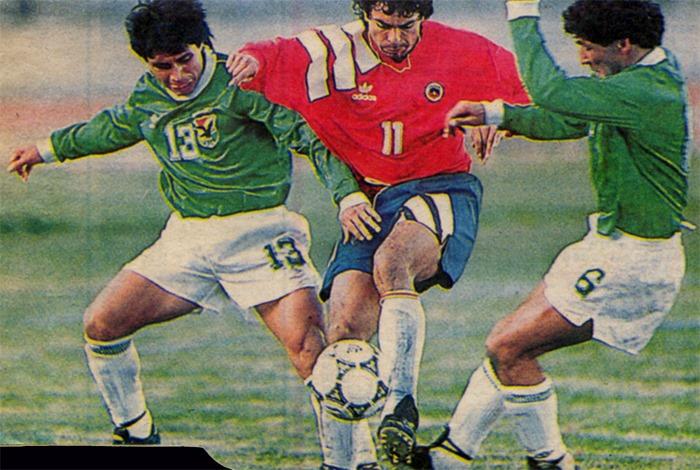 Bolivia y Chile en partido amistoso, 13 de junio de 1993