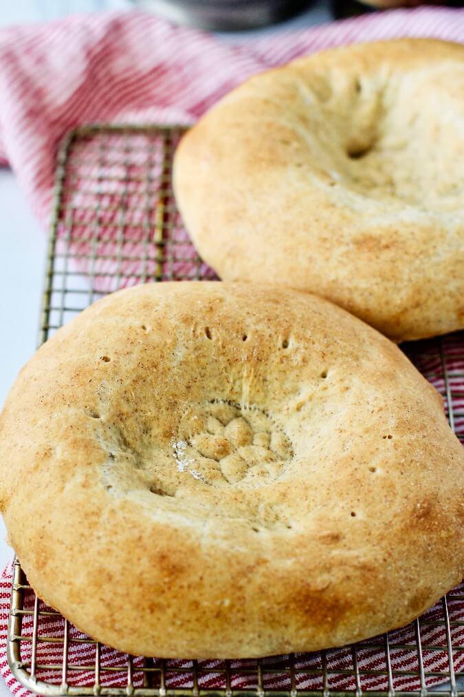 Uzbek stamped bread