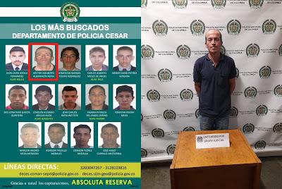 hoyennoticia.com, En Envigado cayó el número dos de los más buscados del Cesar