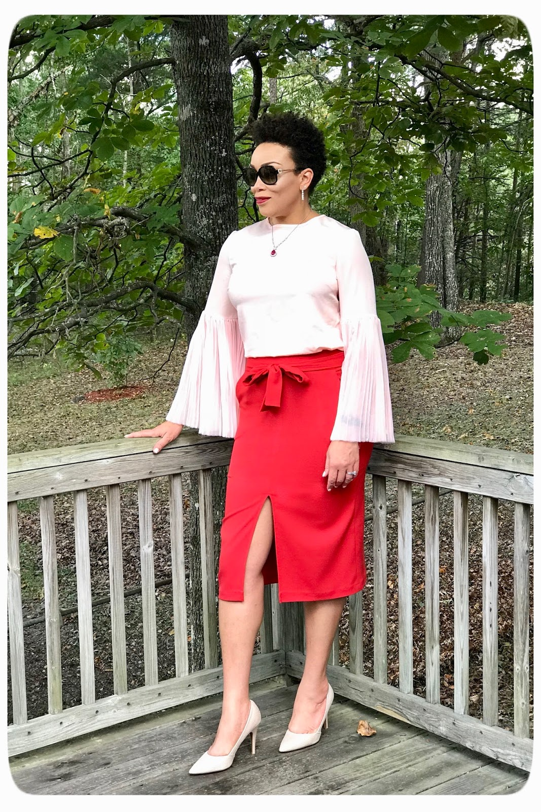 Red Slit Front Skirt | Simplicity 8175 - Erica Bunker DIY Style!
