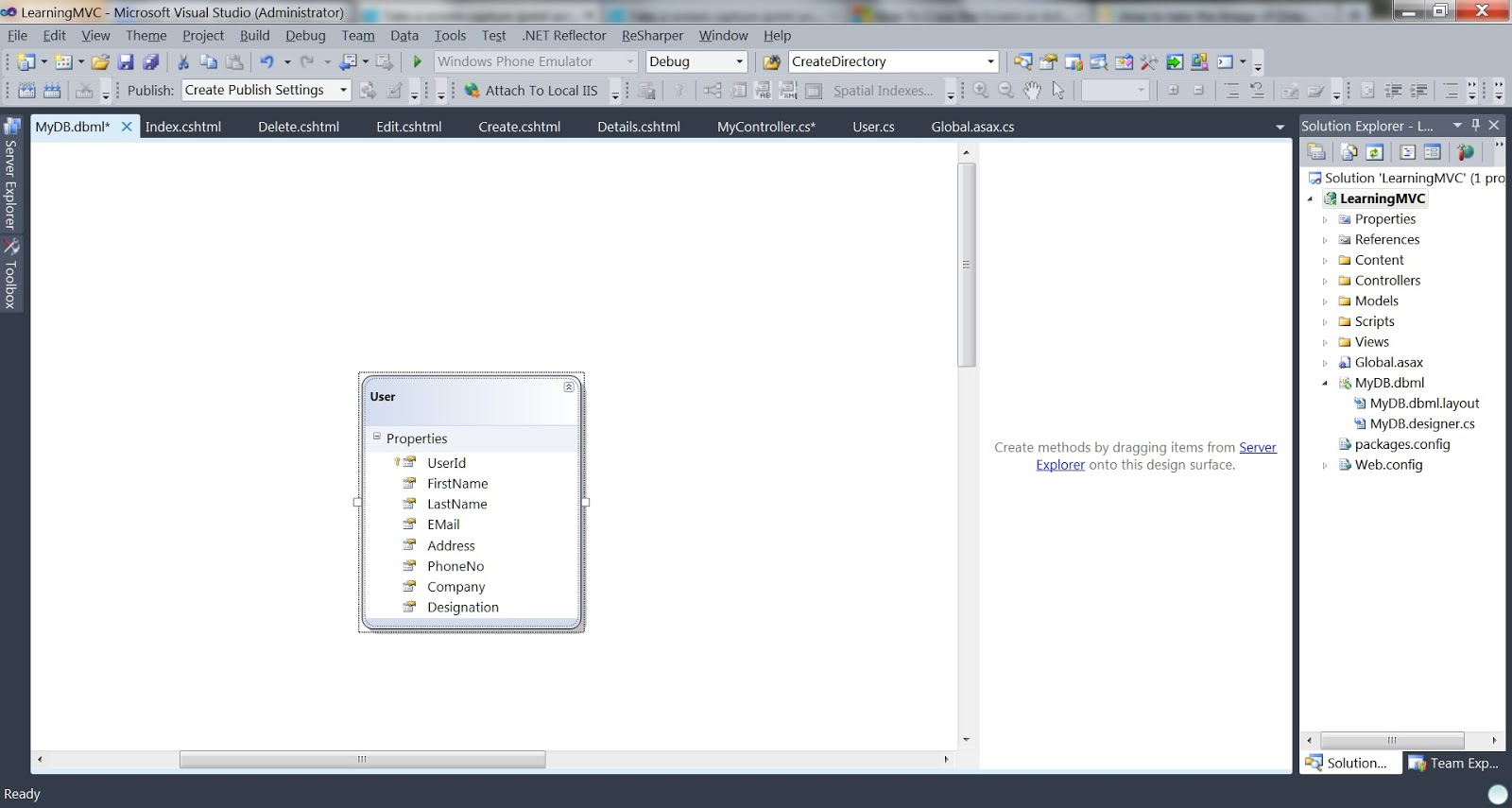 Visual Studio 2013 Generate Class Diagram 1999 Chevy Tahoe Radio Wiring A Practical Approach Learning Mvc Part 2 Creating