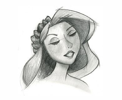 Princess pencil sketch
