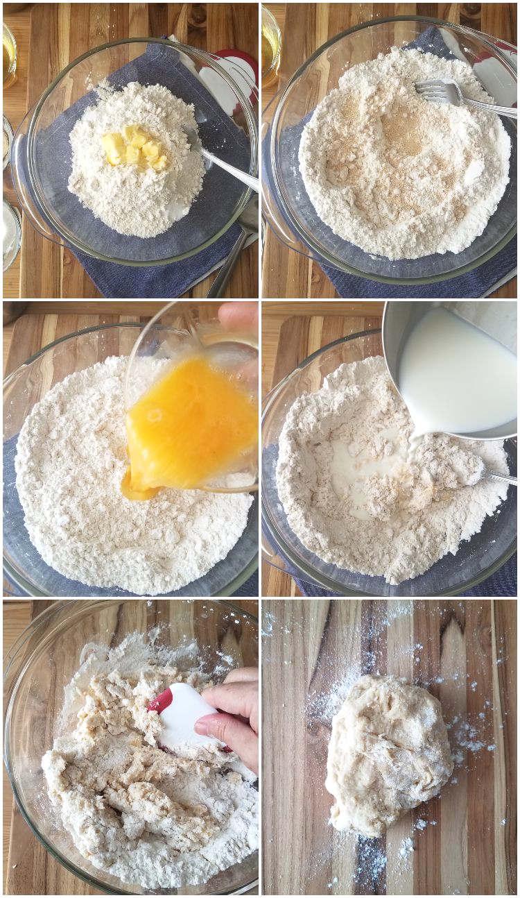 Preparación de la masa de los pancitos chips o de banquete