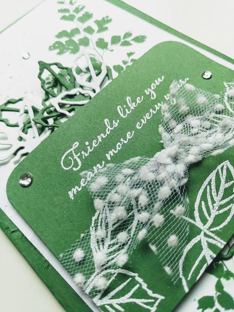 Stampin' Up Garden Green handmade card leaves