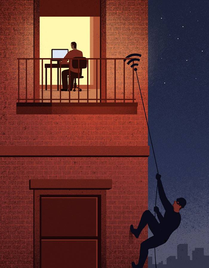 30 illustrations by an Itlian artist reflecting the negative trends of modern society