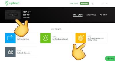 Cara WD Withdraw Crypto Wallet Uphold dengan Fee yang Kecil ke Toko Crypto dan Indodax