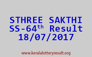 STHREE SAKTHI Lottery SS 64 Results 18-7-2017