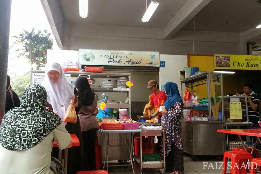 nasi lemak pasar seksyen 6 shah alam sedap kaw kaw selepas membeli barang di pasar