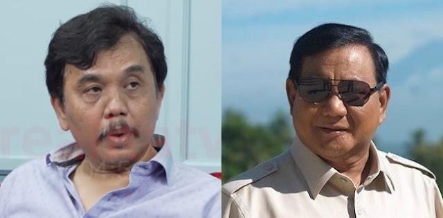 Syahganda Nainggolan: Prematur, Tuduhan Prabowo Tentang Asing Di Balik Demo