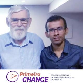 Luiz Couto, secretário da SEAFDS, esteve presente na solenidade de lançamento do Programa Primeira Chance