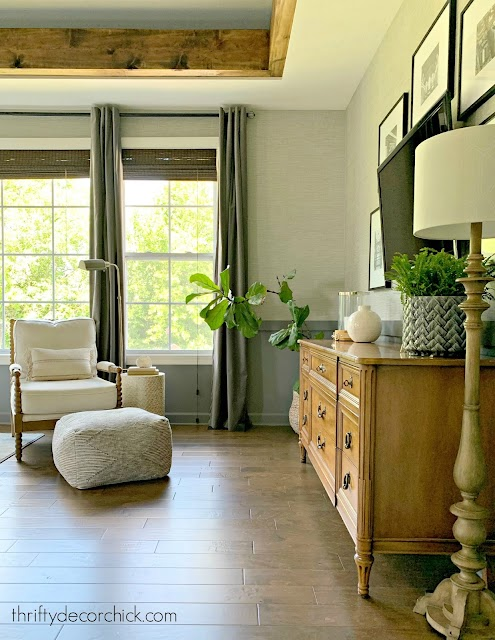 gray grasscloth wallpaper bedroom
