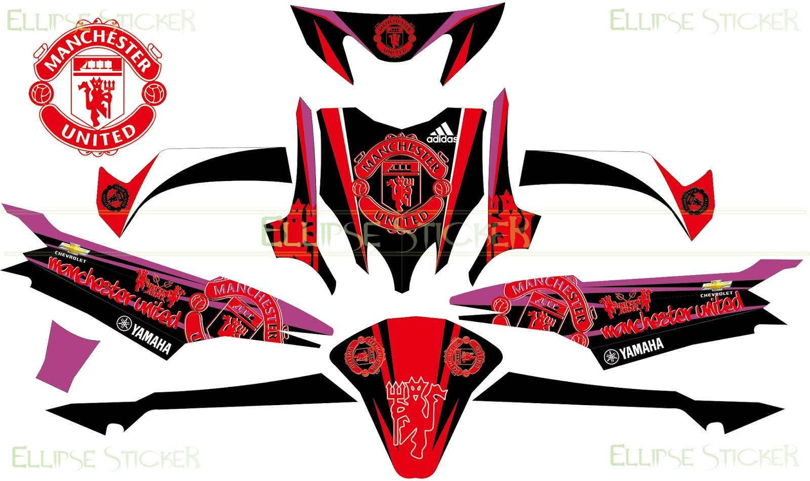 Stiker decal yamaha mio sporty manchester united