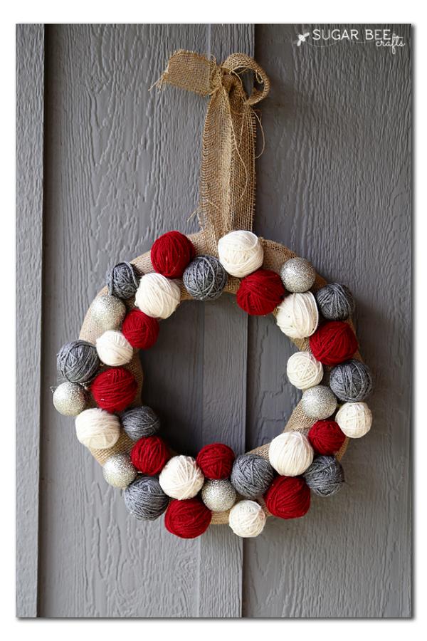 Yarn Ball Wreath