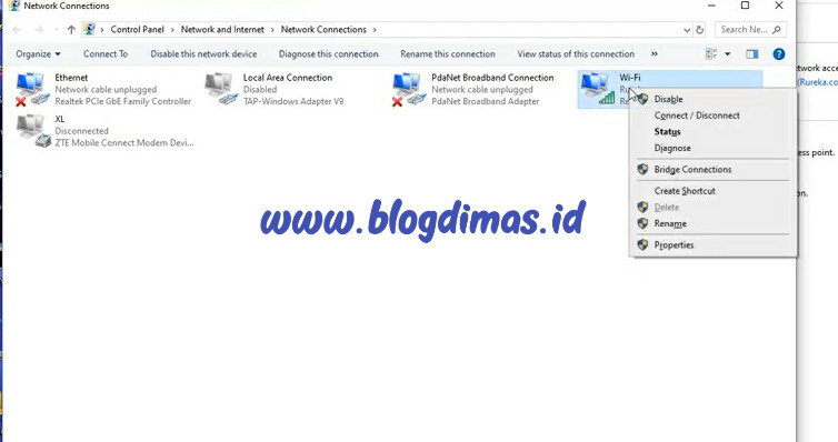Cara Mengatasi No Internet Secured WIFI Windows 10