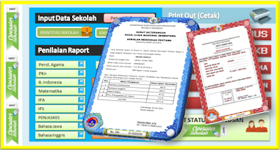 Aplikasi SKHU SD MI SMP MTS SMA tahun 2018