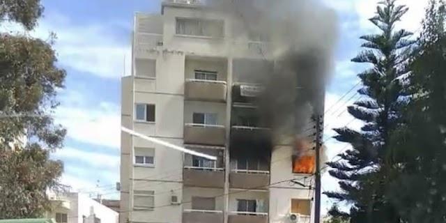 Λάρνακα: Γυναίκα υπέστη εγκαύματα μετά την φωτιά που ξέσπασε στο διαμέρισμα της