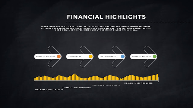 Financial Highlights And Infographic Elements in Free PowerPoint Template Slide 10