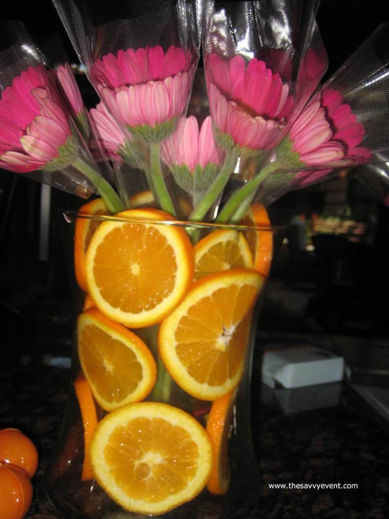 Centros de mesa con rodajas de frutas for Centros de frutas