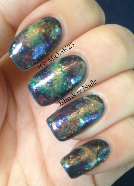 Ehmkay Nails New Year S Eve Nail Art With Kbshimmer Bling: Ehmkay Nails: Northern Lights Nail Art